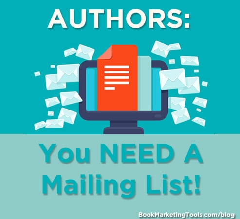 authors you need a mailing list