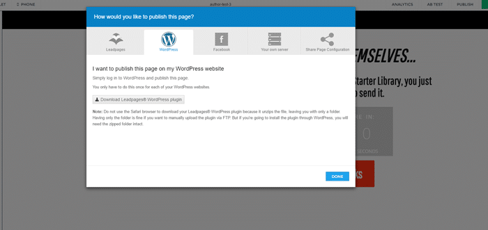 how to use leadpages wordpress plugin