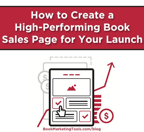 how to create a high performing book sales page